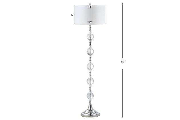"Glass Sphere 16"" Floor Lamp, , large"