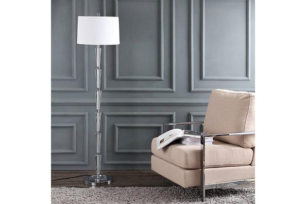"Glass Geometric 16"" Floor Lamp, , large"