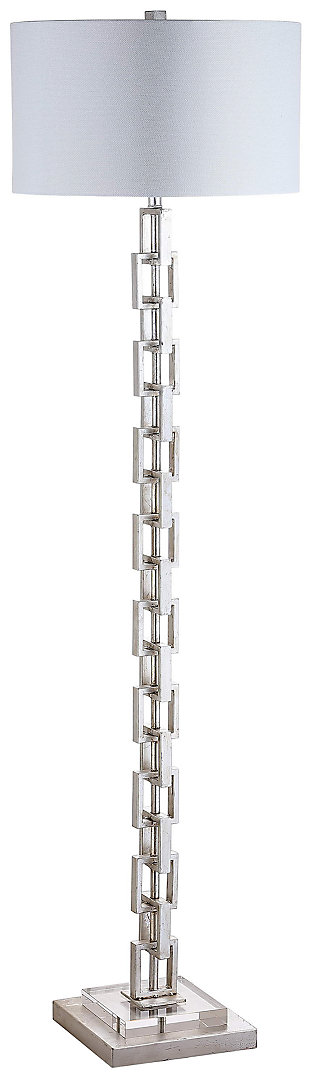 "Metal Ring 64"" Floor Lamp, , large"
