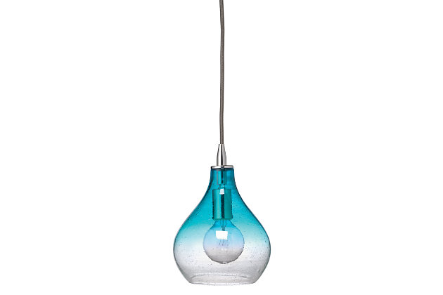 Curved Aqua Pendant - Small, , large
