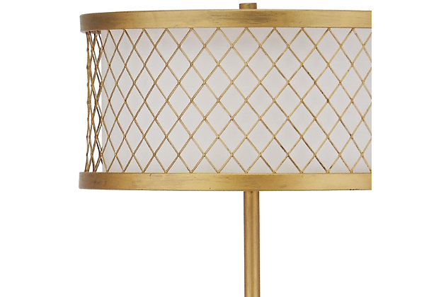 "Antique Finish Mesh 58.25"" Floor Lamp, , large"