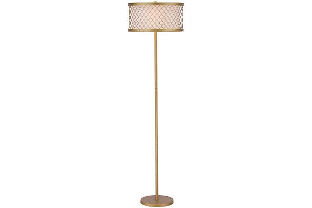 """Antique Finish Mesh 58.25"""" Floor Lamp, , large"""