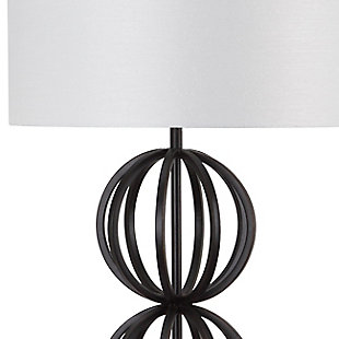 "Black Finish Sphere 58.25"" Floor Lamp, , large"