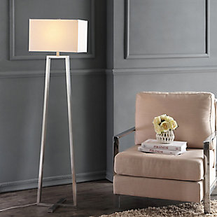 "Nickel Finish Triangle Base 60"" Floor Lamp, , rollover"