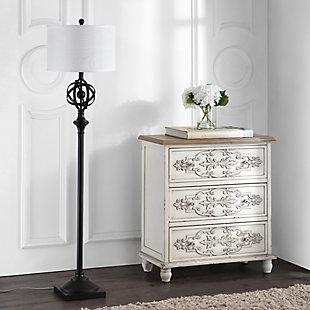 "Bronze Finish Modern 60"" Floor Lamp, , large"
