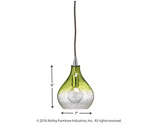 Curved Celedon Pendant - Small, Green, large