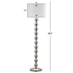 "Stacked Globe 58.5"" Floor Lamp, Nickel Finish, large"