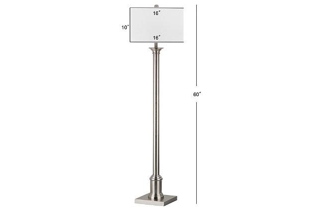"Nickel Finish 60"" Floor Lamp, , large"