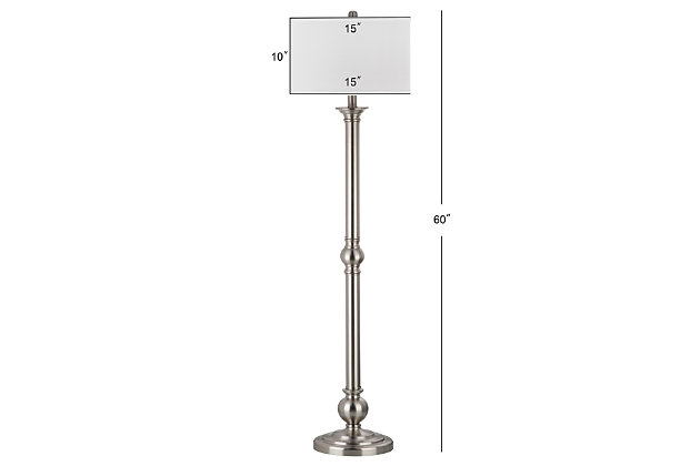 "Nickel Finish 60"" Floor Lamp, , large"