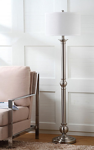 "Nickel Finish 60"" Floor Lamp, , rollover"