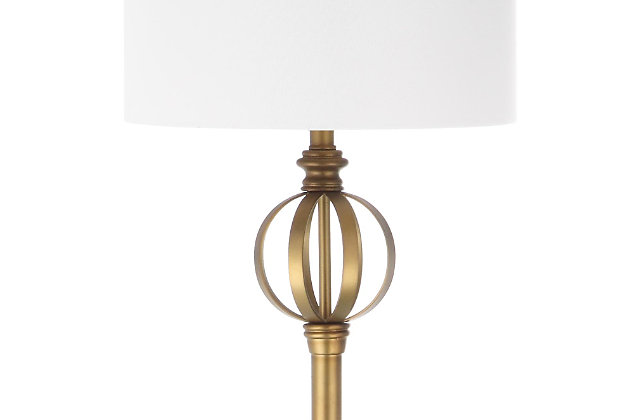 "Gold Finish Sphere 61.5"" Floor Lamp, , large"