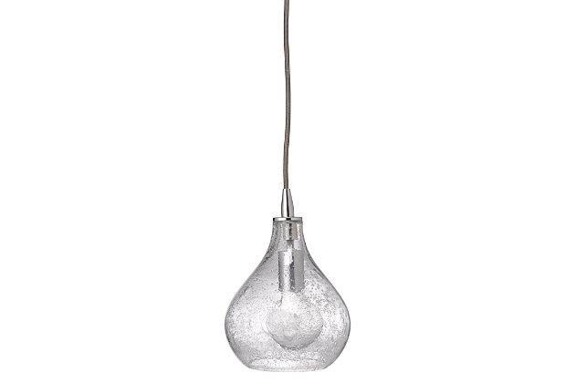 Curved Clear Pendant - Small, Clear, large