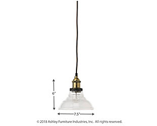 Factory Clear Bell Pendant, , large