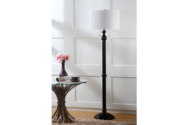 "Bronze Finish 58.75"" Floor Lamp, , large"