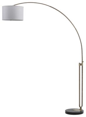 """Image of Antique Finish Arc 84"""" Floor Lamp, Antique Brass Finish"""