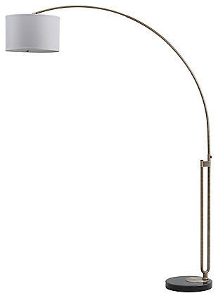 "Antique Finish Arc 84"" Floor Lamp, , large"