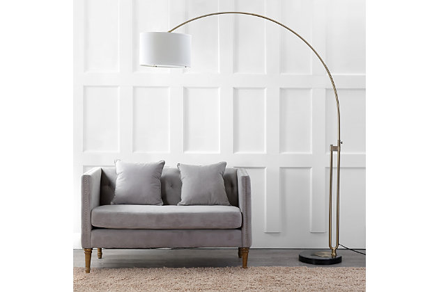"""Antique Finish Arc 84"""" Floor Lamp, , large"""