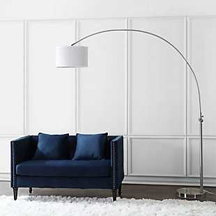 "Nickel Finish Arc 84"" Floor Lamp, , rollover"