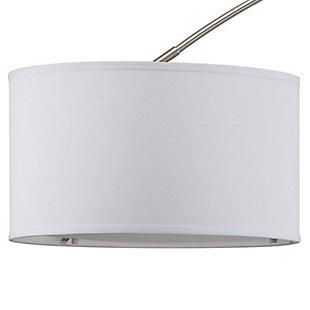 "Nickel Finish Arc 84"" Floor Lamp, , large"
