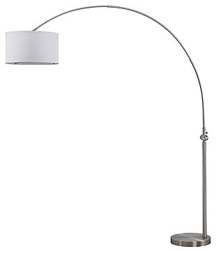 "Nickel Finish Arc 84"" Floor Lamp, , large"