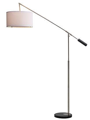 "Nickel Finish Balance 85.5"" Floor Lamp, , large"