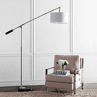 "Nickel Finish Balance 85.5"" Floor Lamp, , rollover"