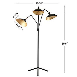 "Metallic Finish Modern 69.5"" Floor Lamp, , large"
