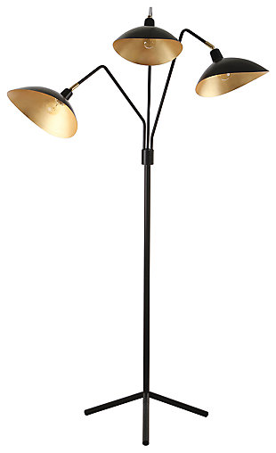 "Metallic Finish Modern 69.5"" Floor Lamp, , large"