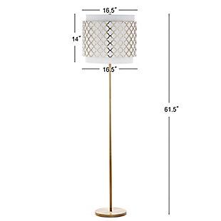 """Gold Finish Quatrefoil 61.5"""" Floor Lamp, , large"""
