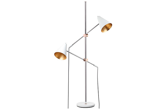 "Metal Contemporary 71"" Floor Lamp, , large"