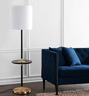 "Black Finish End Table 65"" Floor Lamp, , rollover"