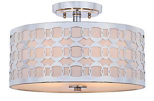 "Patterned Design 15"" Flush Mount Pendant Light, , large"