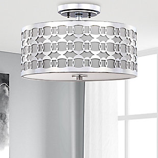"Patterned Design 15"" Flush Mount Pendant Light, , rollover"