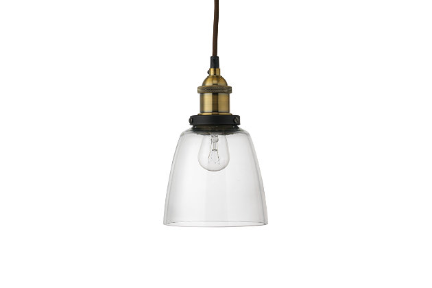 Factory Clear Dome Pendant, , large