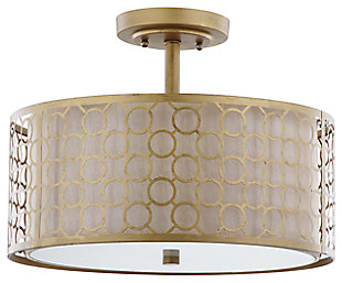 "Geometric Patterned 16"" Flush Mount Pendant Light, , large"