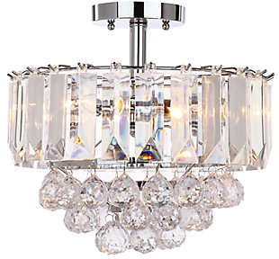 "Acrylic 3-Light 13.5"" Flush Mount Pendant Light, , rollover"