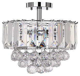 "Acrylic 3-Light 13.5"" Flush Mount Pendant Light, , large"