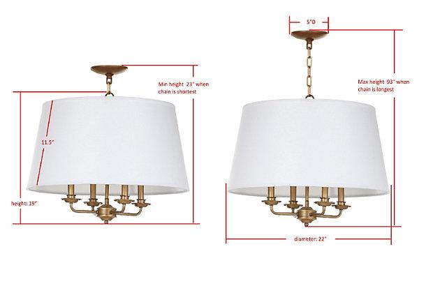 "Adjustable Length 22"" Pendant Light, , large"