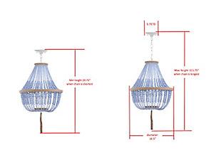 "Beaded 16.5"" Pendant Lamp, , large"