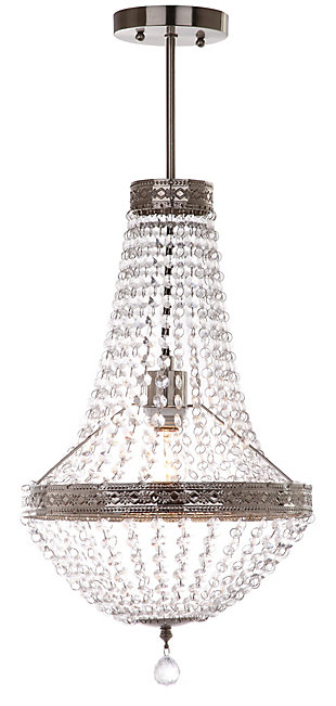 "Acrylic Single Light 11.75"" Chandelier, , rollover"
