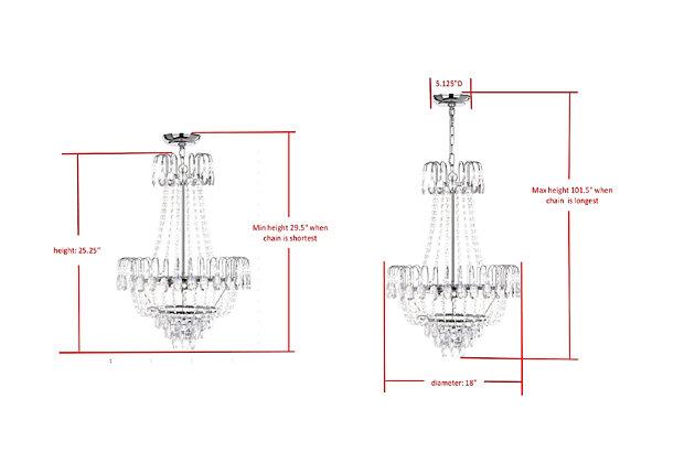 "Beaded 18"" Pendant Lamp, , large"