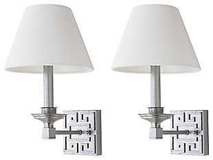 """Silver Finish Modern 15"""" Wall Sconce (Set of 2), , large"""