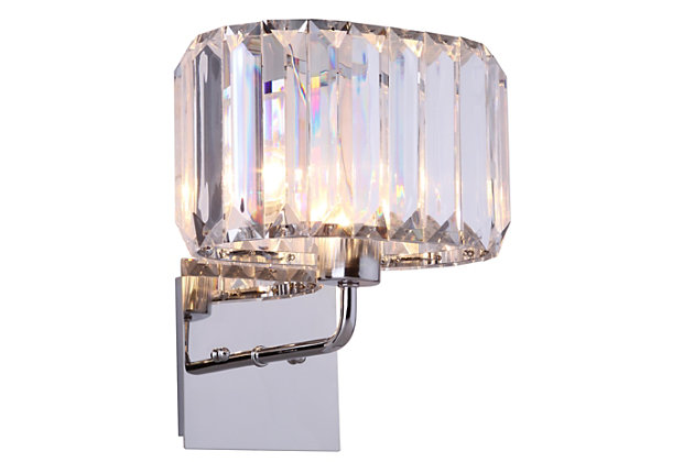 "Acrylic 10"" Wall Sconce (Set of 2), , large"