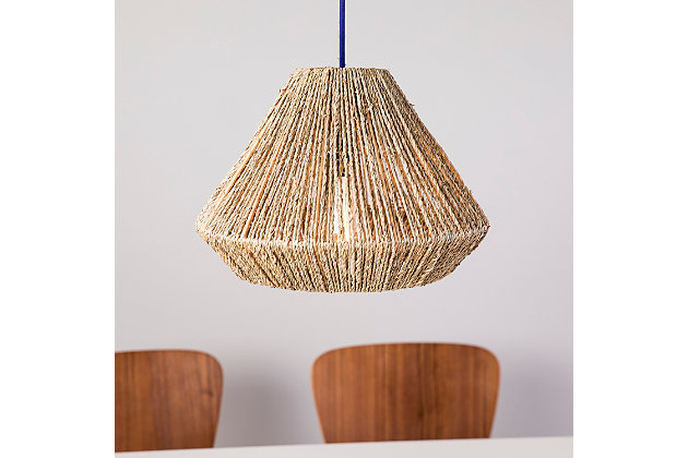 Natural Holly & Martin Lamont Seagrass Pendant Shade, , large