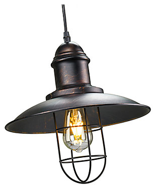 Industrial Neenah Cage Pendant Light, , large