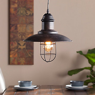 Industrial Neenah Cage Pendant Light, , rollover