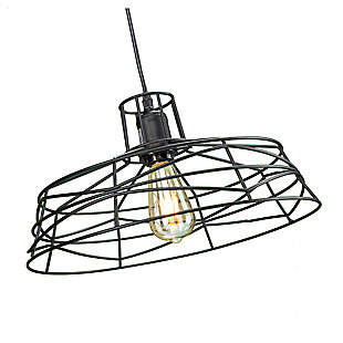 Industrial Perea Wire Cage Pendant Light, , large