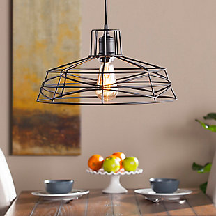 Industrial Perea Wire Cage Pendant Light, , rollover
