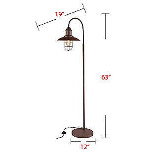 Transitional Casado Caged Bell Floor Lamp, , large