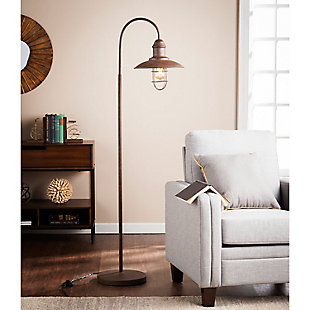 Transitional Casado Caged Bell Floor Lamp, , rollover
